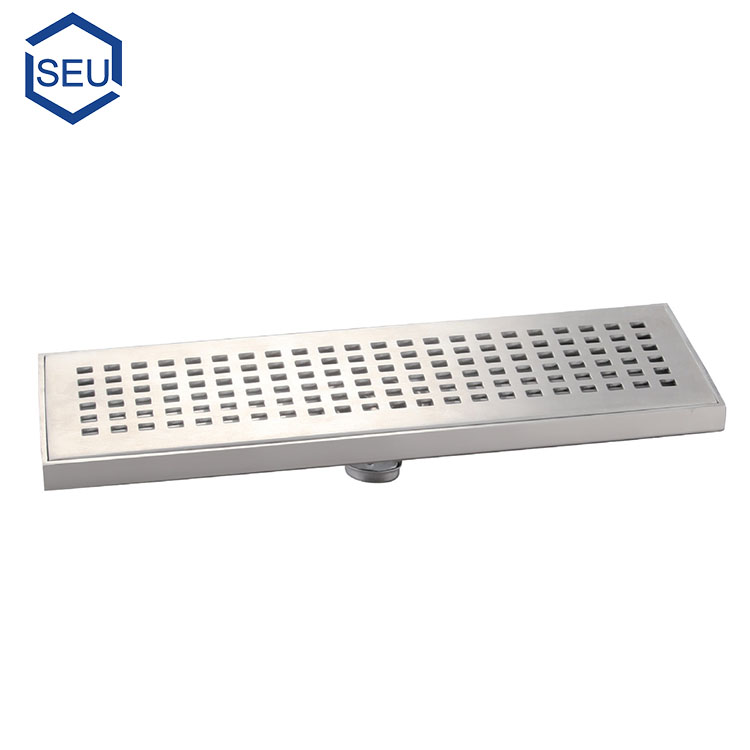 horizontal rectangular large residential shower floor waste drain