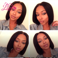 Straight Short Bob Wigs With Baby Hair Natural Color Human Hair Lace Front Human Hair bob Wigs For women