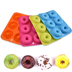Silicone Donut Pan Non-Stick Mold 6 cavity silicone Donut Baking Pan