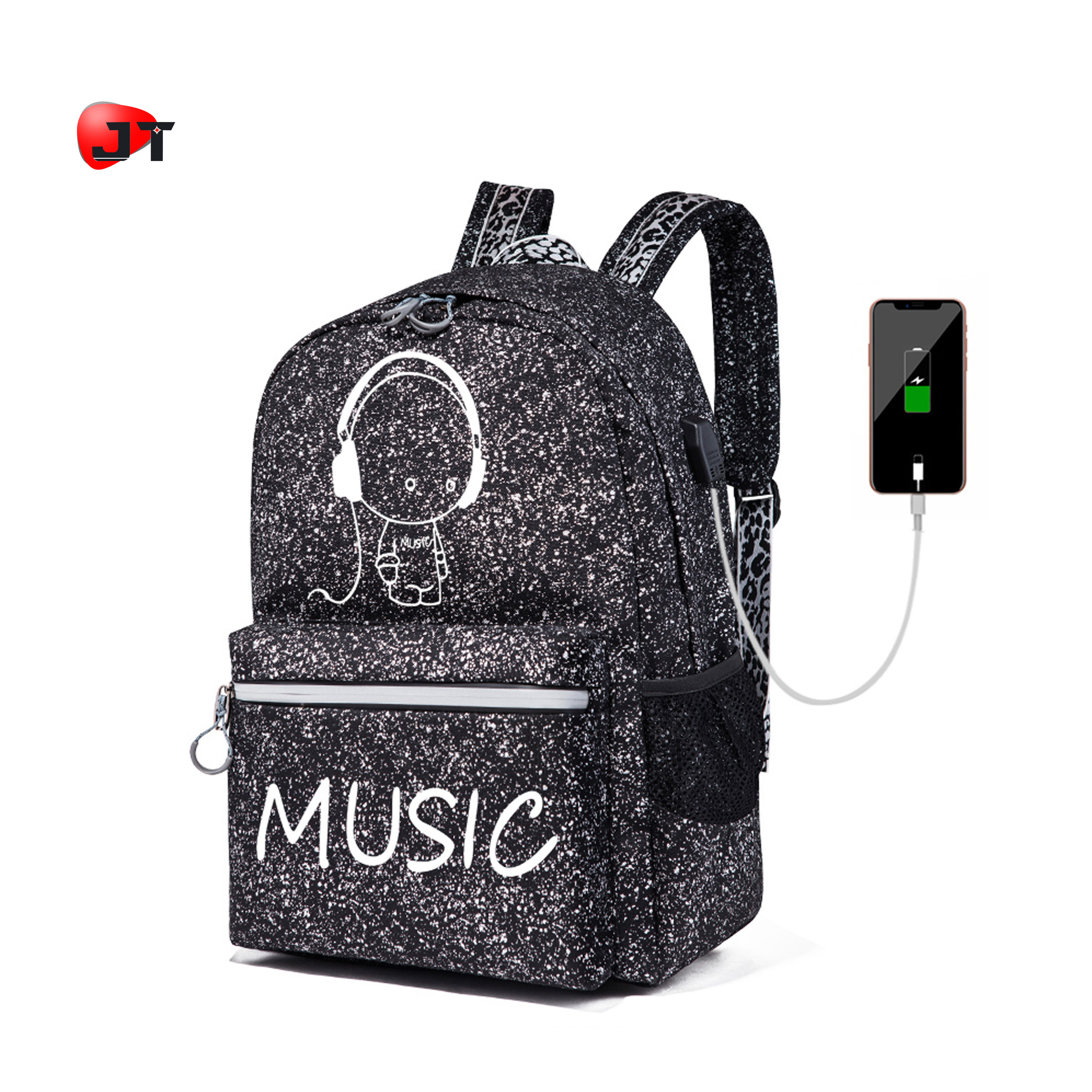 십 대 Mochilas Importadas 히피 Laptop Backpack School Bag