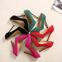 C89532A wholesale woman candy color high heels shoes