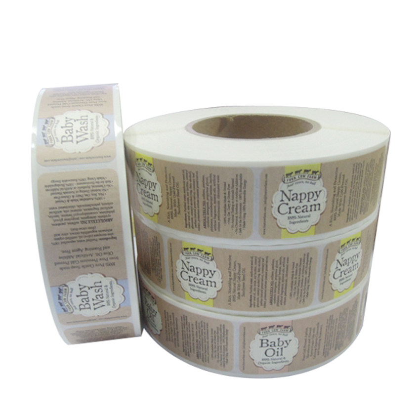 Cheap Customized Heavy Duty Adhesive Labels Sticker Printing And Printed Partial Adhesive Label