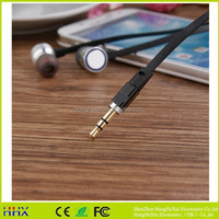 Factory wholesale super bass Metal Earphone For Android Phone Computer MP3 Player