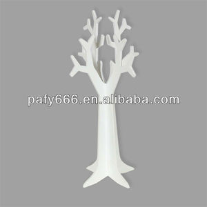 MDF JEWELRY TREE,wooden tree jewelry hanger