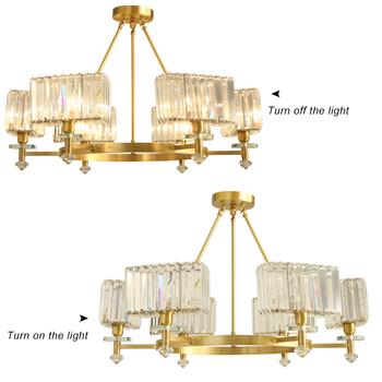 Loft Retro Vintage Copper Pendant Light Modern Glass Crystal Chandelier  Ceiling Fixture Kitchen - Buy Luxury Classic Design Solutions International  ...