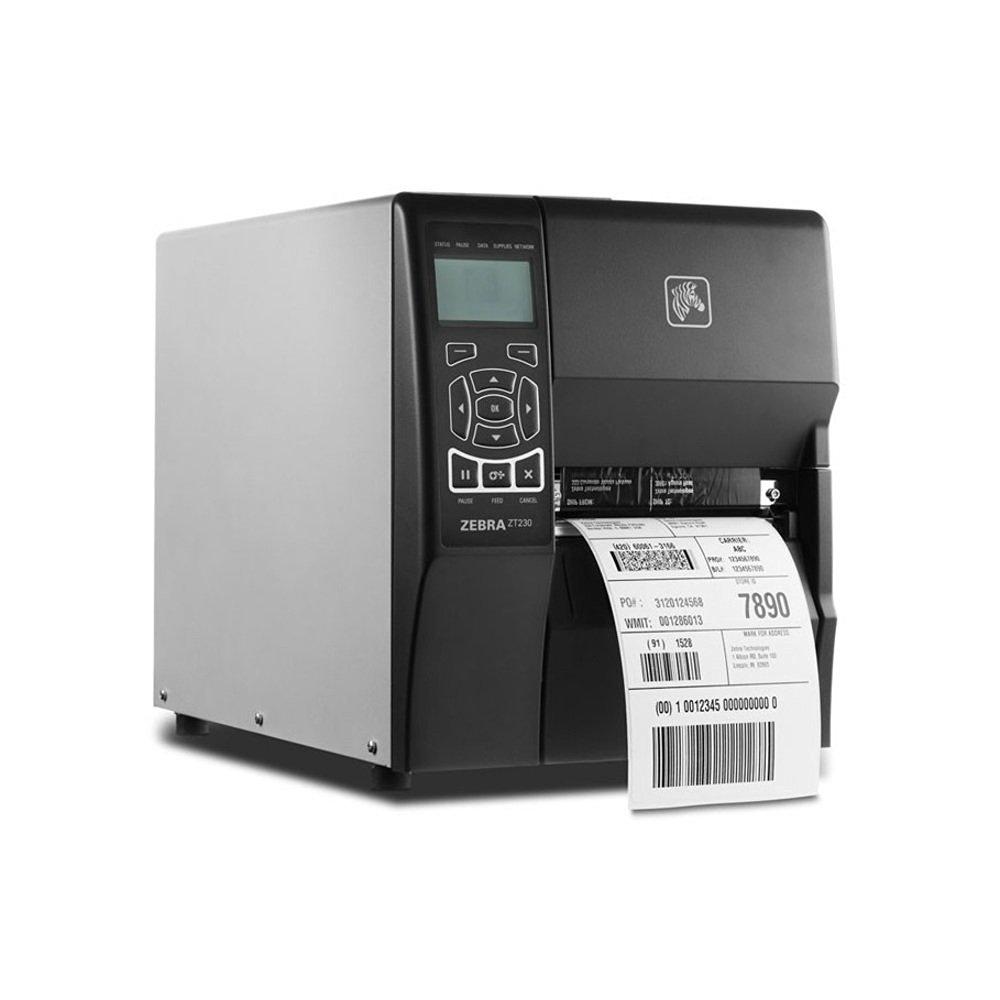 """Zebra Technologies ZT41043-T0100A0Z Series ZT410 Direct Thermal/TT Industrial Printer, 300 DPI, 4"""" Max Print Width, Tear Bar, USB 2.0, RS-232 Serial, 10/100 Ethernet, Bluetooth 2.1, USB Host, UHF RFID"""