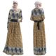 Arabic Islamic Abaya Dress Long Sleeve Dubai Dress