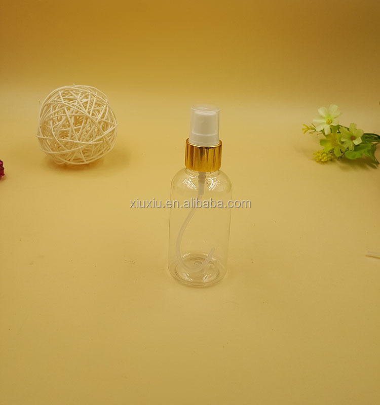30ml blue PET recycled empty plastic pump spray perfume bottles