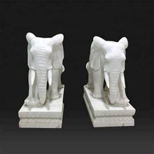 Outdoor decor garden carvings elephant sculpture