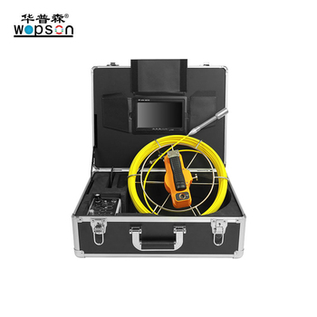 Push Rod  Industrial Drain Pipe Sewer Inspection Cameras With Meter Counter For Sale