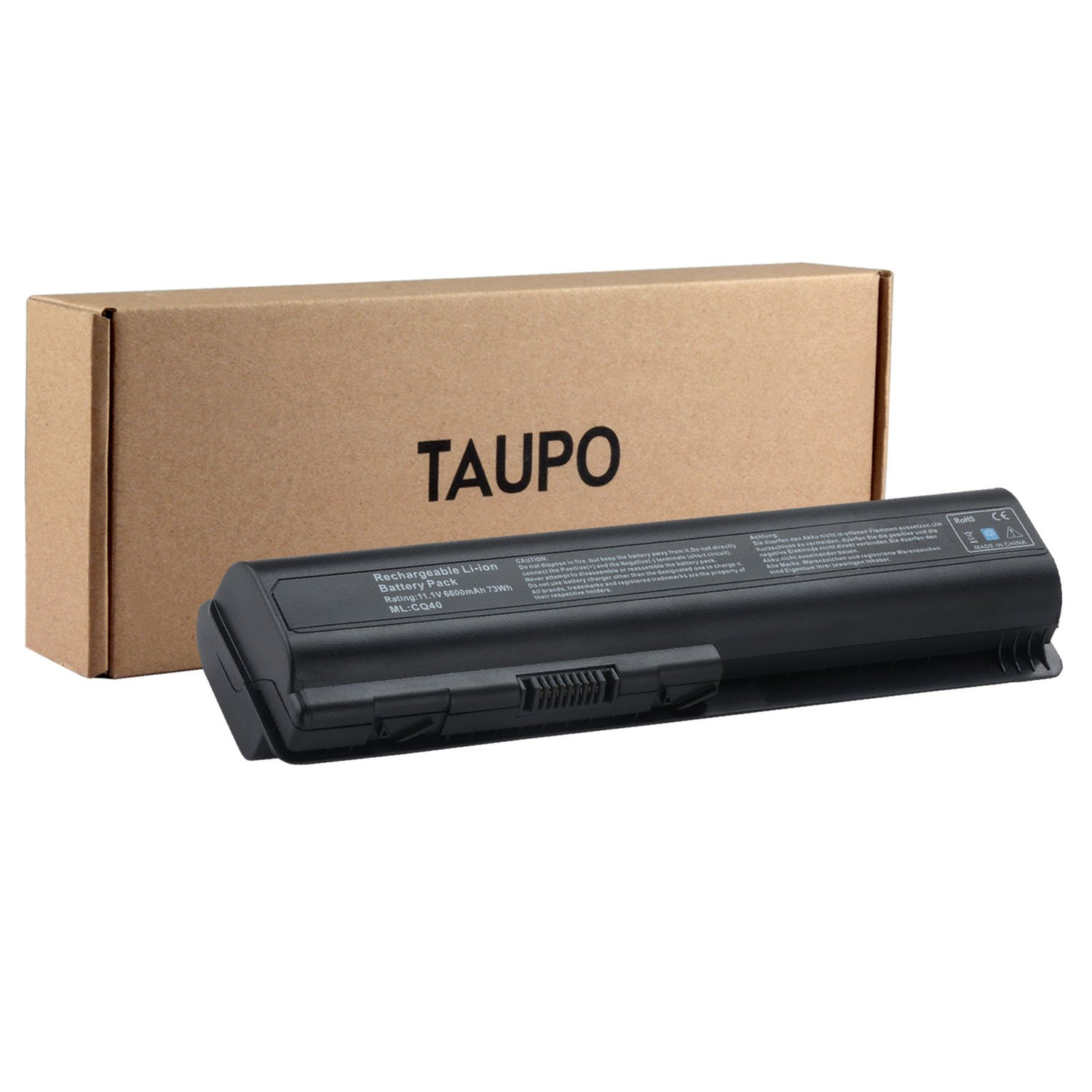 TAUPO 9-Cell Extended Laptop Battery for HP Pavilion DV4-1000 DV4-2000 DV5-1000 DV6-1000 DV6-2000 CQ40 CQ50 CQ60 CQ70 G50 G60 G60T G61 G70 G71 Series, Fits 484170-001 EV06 KS524AA KS526AA HSTNN-IB72