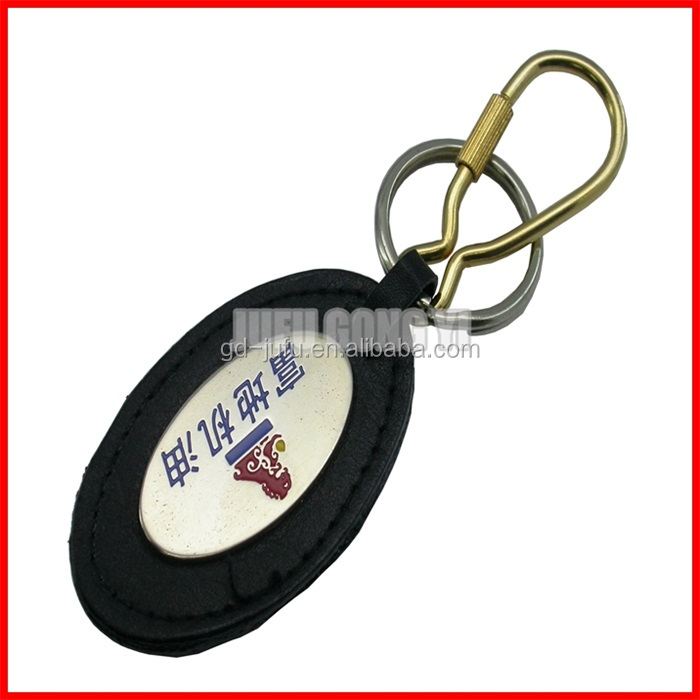 Wholesale custom leather keychain for promotional gift