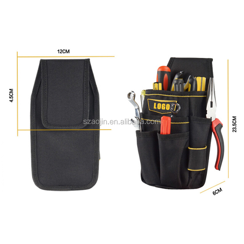belt tool bag black multipurpose Oxford Utility Pouch Waist Tools Pocke