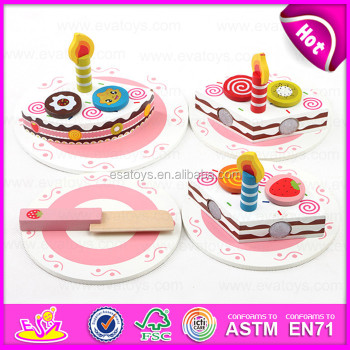 2015 Wooden Toy Birthday Cake For Kidspretend Toy Diy Wooden Children Toy Cake Setfunny Play Wooden Cutting Cake Toy W10b096 Buy Cake Toycutting