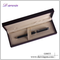 silver engraved grip cabinet and delicate roller pen with black box