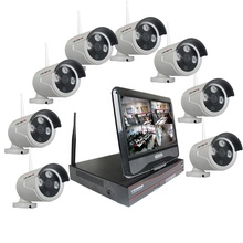 LS VISION 960 P Cctv Kit 8 Kanal <span class=keywords><strong>Wireless</strong></span> <span class=keywords><strong>Home</strong></span> Sicherheit Outdoor Video Überwachung Ip-kamera NVR System mit 10 zoll LCD Bildschirm