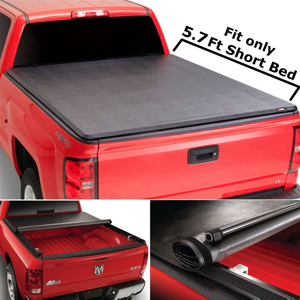 Super Drive RT010 Roll & Lock Soft Tonneau Truck Bed Cover For 2009-2016 Dodge  Ram 1500 5.7ft Bed 2010-2016 Dodge Ram 2500 3500 5.7ft Bed