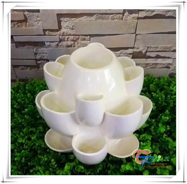 Popular fiberglass resin strawberry vertical gardening tower pots