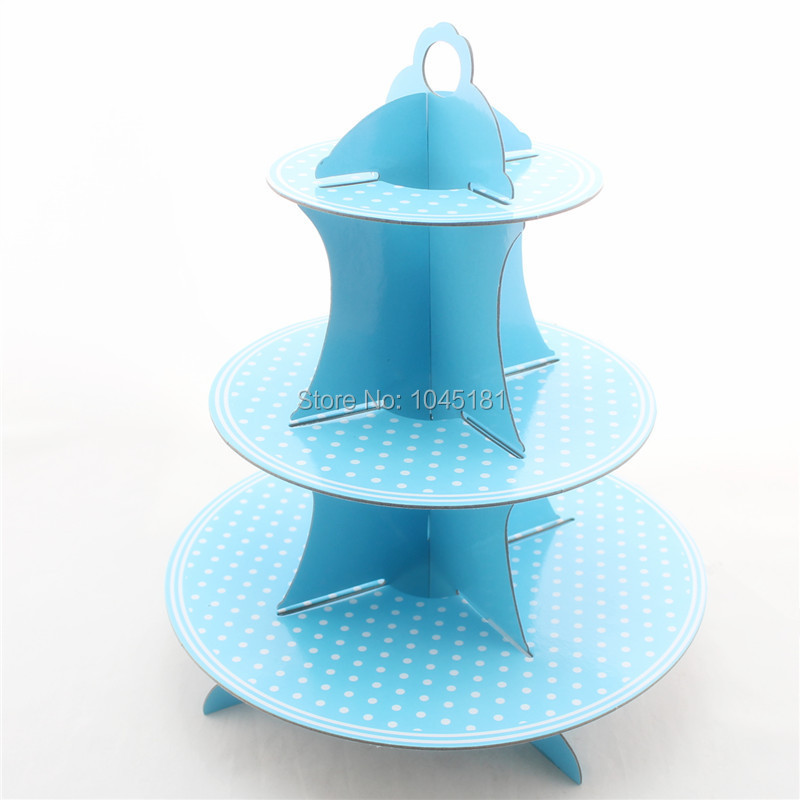 get quotations free shipping 3 tier party supplies cake holder wedding kidu0027s birthday supplies polka dot theme cupcake
