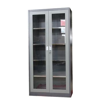 Factory Price Glass Door Steel Bookcase Cabinet Office Storage Book