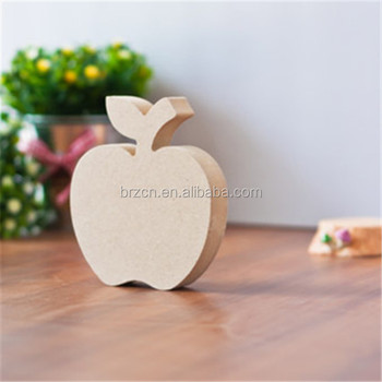 Handmade Unfinished Small Wooden Apple Decoration Pieces