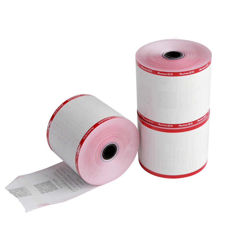 Colored printed thermal paper rolls for tubes and biometric print