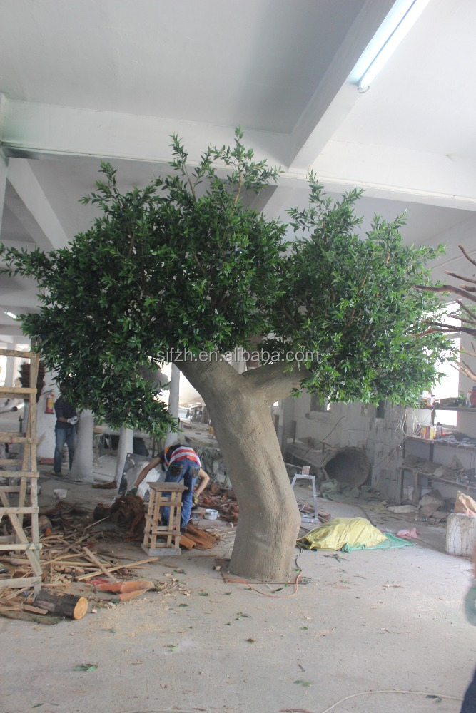 new creative customize big artificial olive tree most realistic outdoor fiberglass olive tree
