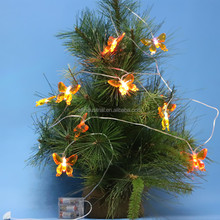 home decoration pieces christmas wreaths led mini copper wire string lights