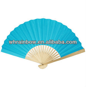 21cm or 23cm Wedding favors fan with bamboo stick and paper