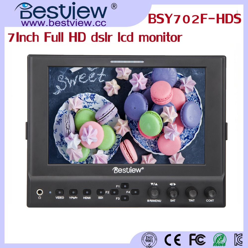 BESTVIEW 1080p full hd sdi video camera monitor 7inch (BSY702F-HDS)