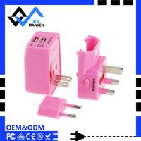 Universally used Gift package set travel adapter of UK/EU/US/AU Plug