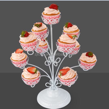 Home office decorative rotating foldable candy Metal Wedding Cake Stand for party food holder