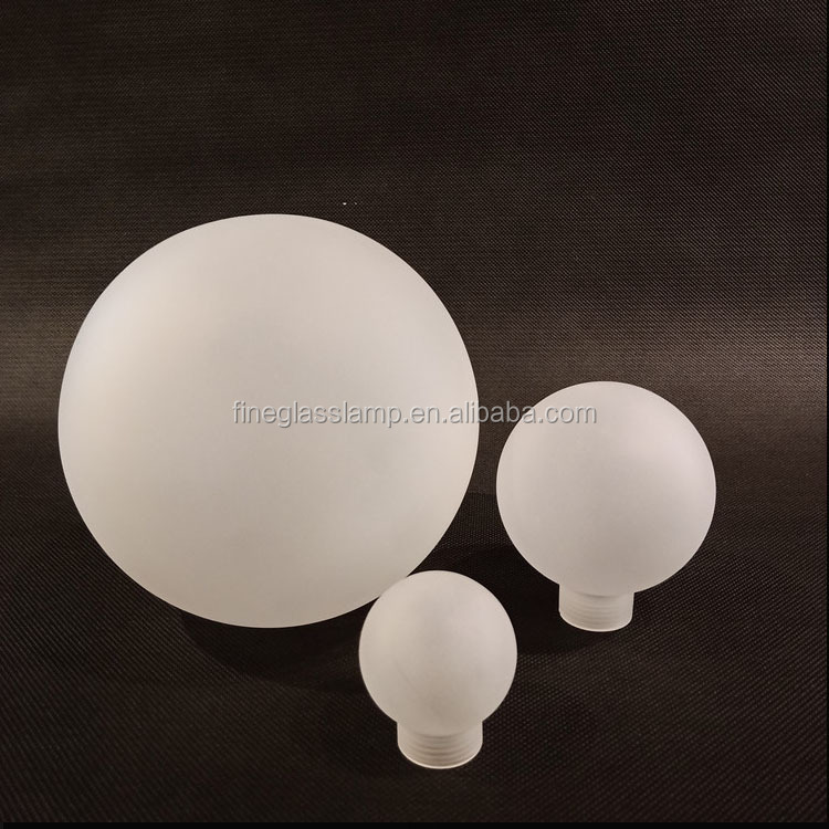 G9 Thread White Sandblast Frosted Borosilicate Glass Ball Lamp Shade