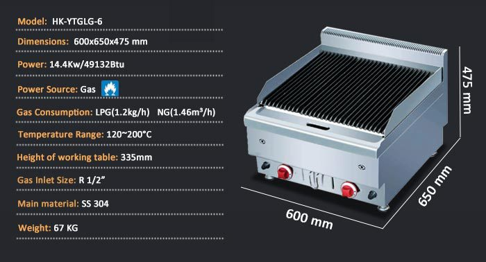 Restaurant Kitchen Stainless Steel Gas Indoor BBQ Grill/The Best ...