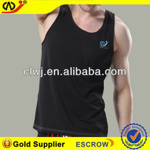 stylish mens blank tank tops 100%polyester mens gym vest
