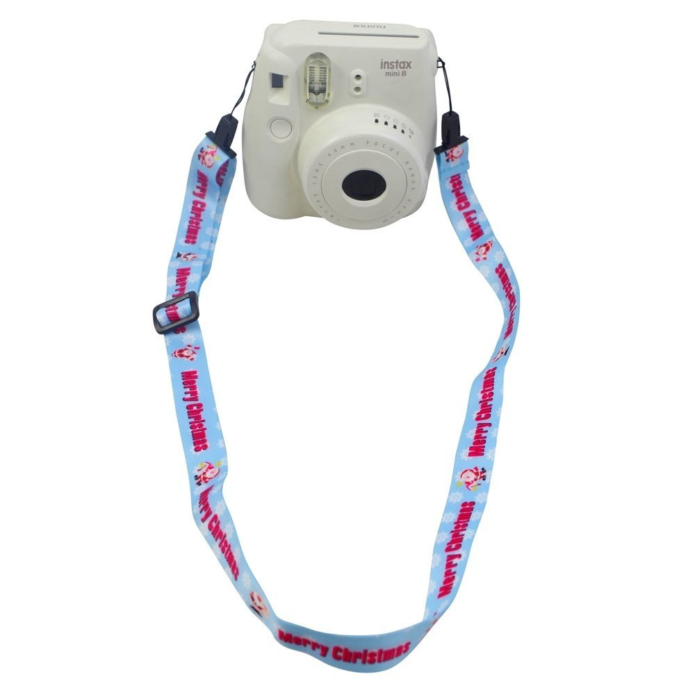 Lalonovo Camera Strap Professional Shoulder Strap for Fujifilm Instax Mini 25/ 50/ 7/ 8/ 90 Instant Film Camera (Christmas)