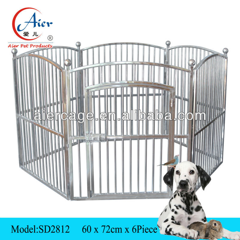 professional manufacturer pet crate outside puppy fence