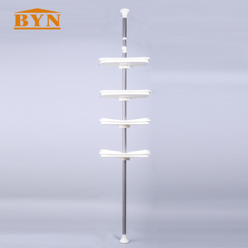 Stainless Steel Corner Shower Caddy Tension Pole