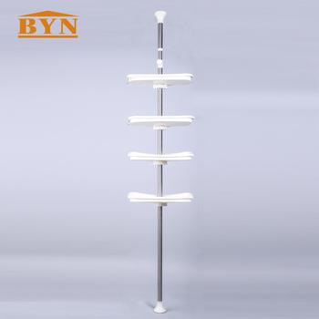 adjustable shower tension pole caddy bathroom storage rack