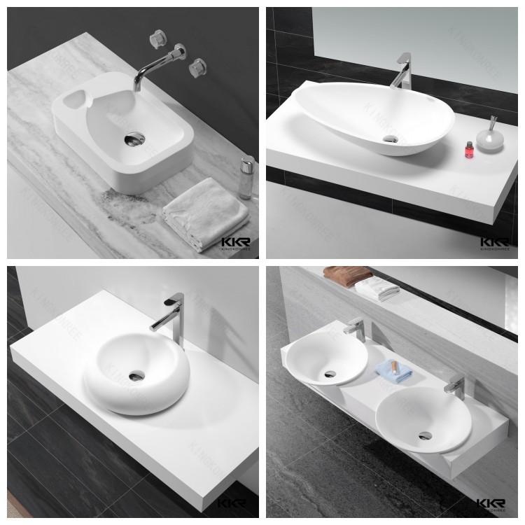 Sanitary Ware Bathroom Sink Above Counter Wash Basin Square Art ...