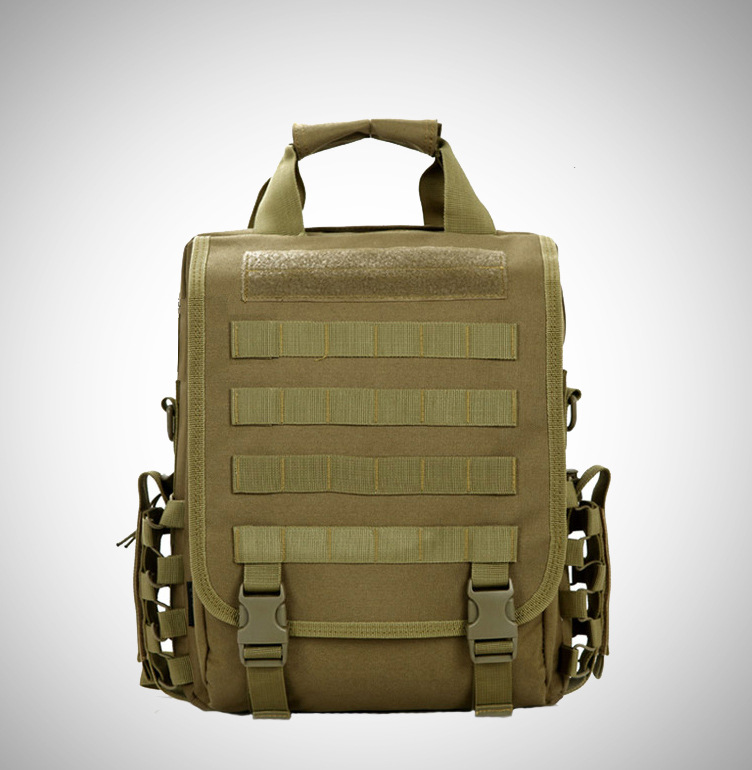 "waterproof Molle Tactical 14""(inch) Laptop Sling BAG Backpack Black Brown 14""computer backpack <strong>shoulder</strong> or <strong>shoulders</strong>"