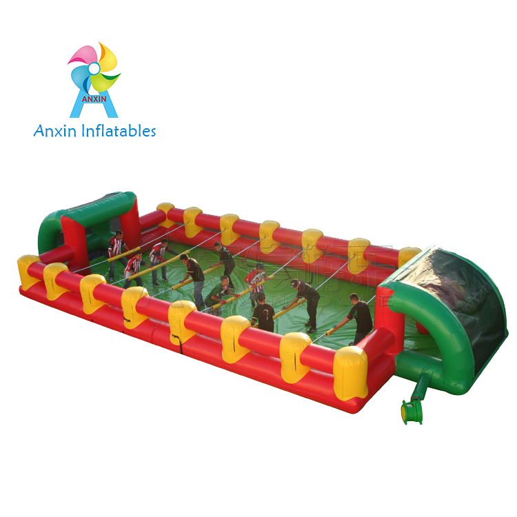 newest design cheap outdoor PVC material inflatable human foosball field