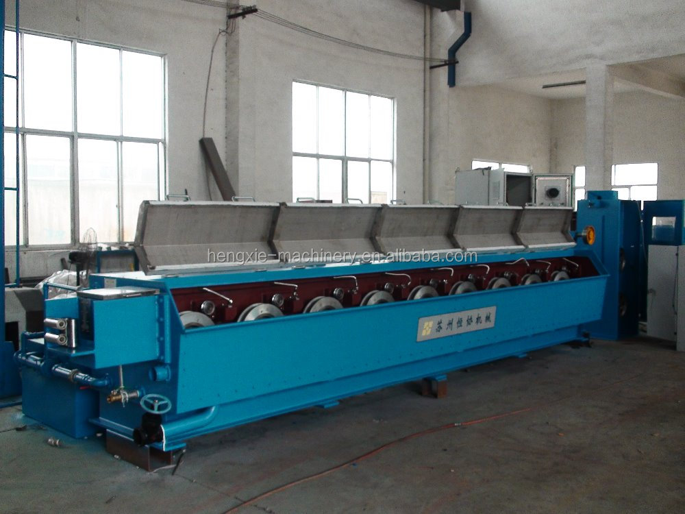 HXE-10DL Aluminium & rod breakdown machine with double spoolers/cable manufacturing equipment