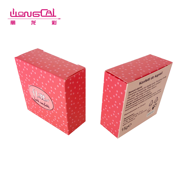 Low MOQ factory price OEM design square biscuit cookie folding box packaging
