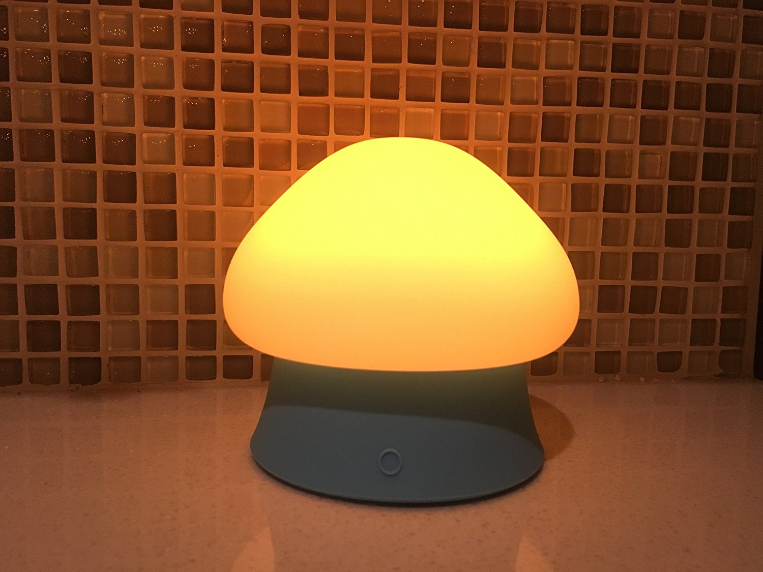 Soft Silicone Baby Nursery Lamp with Vibration Control BPA-Free for Baby Kids Bedroom and Nursery-Blue Amber Light First O-Lite OLED Children Night Light with Music