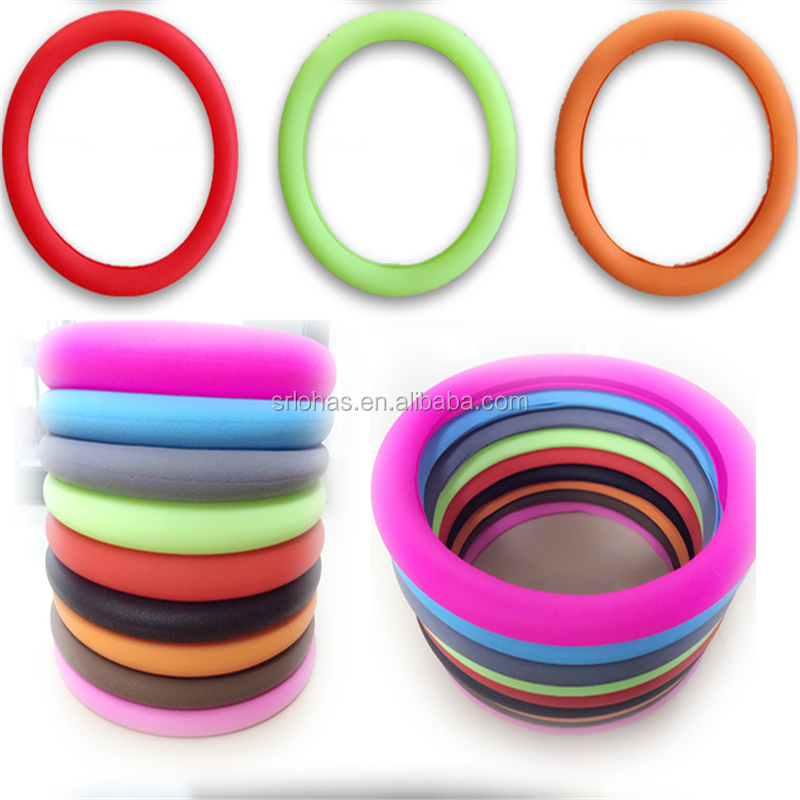 custom car silicone steering wheel cover diameter from 34cm to 38cm