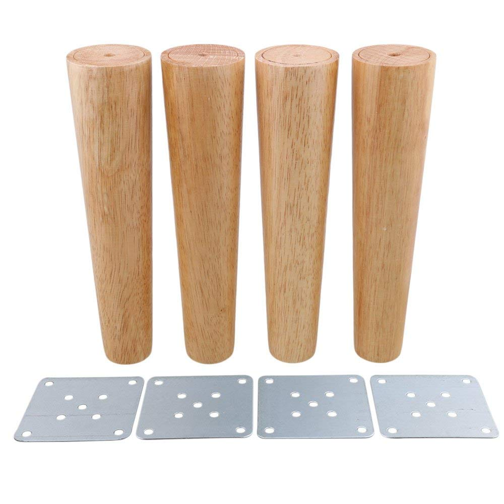 Get Quotations 10inch Furniture Legs Wood Color Tapered For Cabinets Sofa Feet Pack Of 4