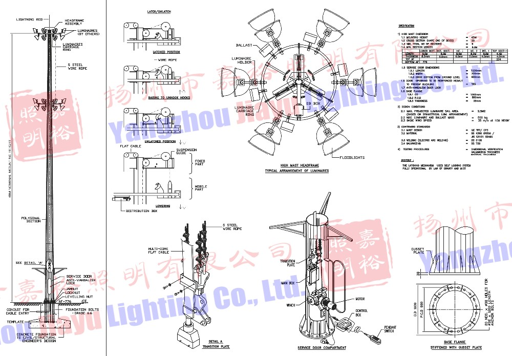 15m High Mast Pole Vertical Mounted Telescoping Mast Light Tower Light Mast Light Wiring Diagram For on dimensions for lights, wiring can lights in parallel, remote control for lights, cable for lights, wire for lights, lights for lights, 2-way switch wiring into lights, accessories for lights, wiring lights in series, home wiring in lights, wiring led lights up, wiring 3 wire christmas lights, four wiring shop lights, cover for lights, timer for lights, wiring a switch, circuit for lights, electrical diagram for lights, generator for lights,
