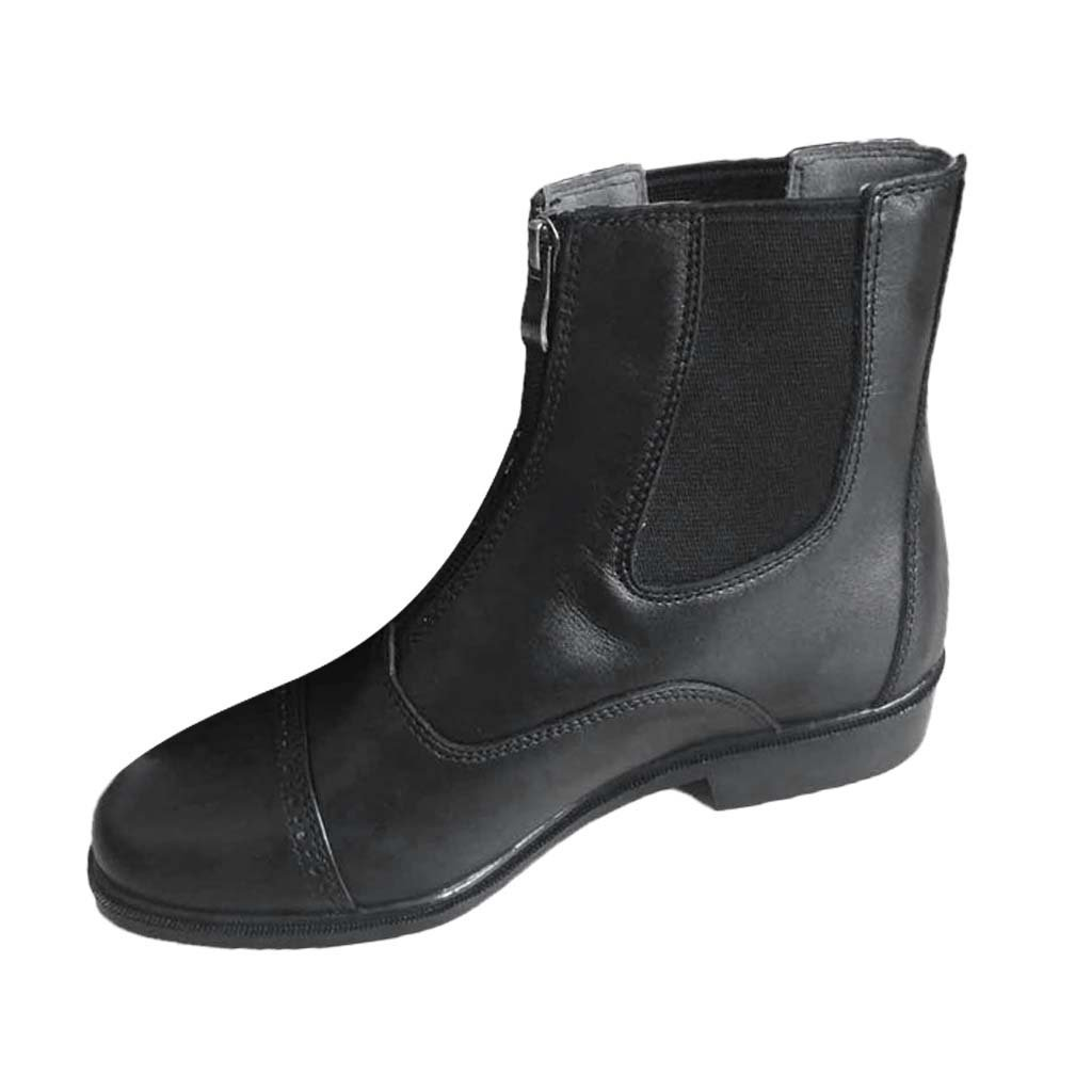 04b96d4b1c04a Get Quotations · Dovewill Paddock & Jodhpur Boots Zip Front Horse Riding  Boots Waterproof Black