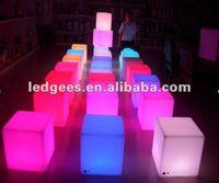 Bar furniture,led cube light,led chair outdoor/30cm/40cm
